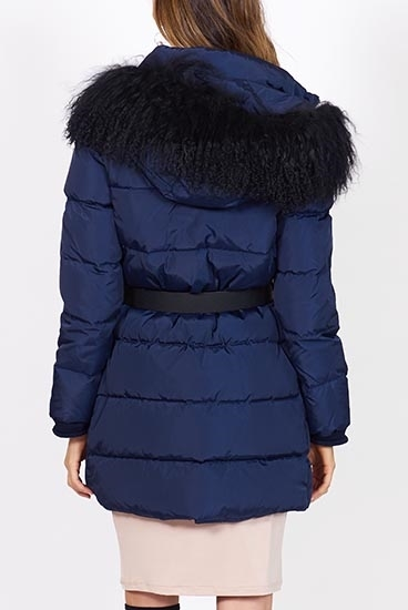Picture of TwinSet Puffer Jacket Navy