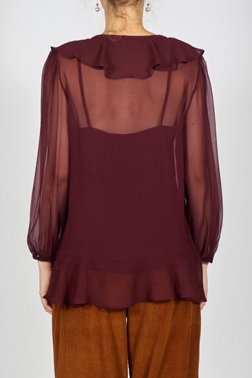 Picture of Grace Blouse Wine