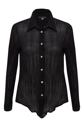 Picture of Adele Crinkle Shirt Black