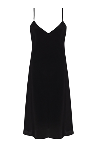 Picture of Evening Midi Slip Dress Black
