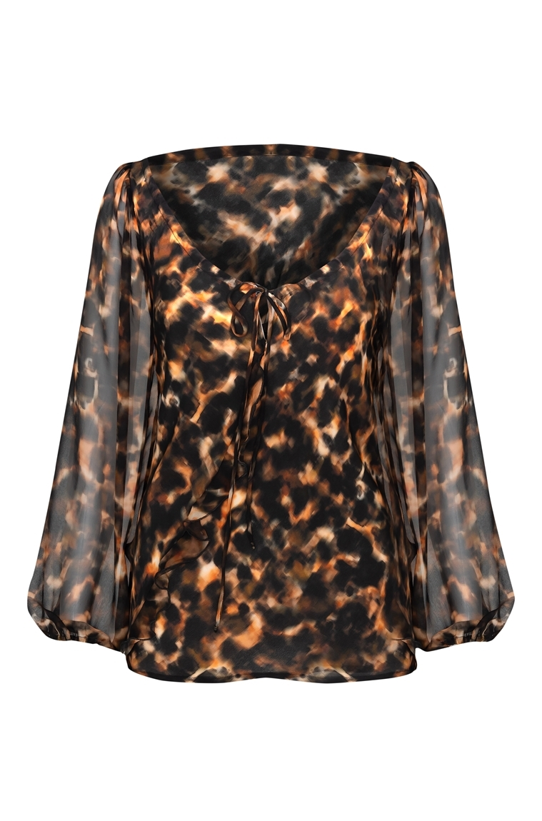 Picture of Juliette Blouse Tortoiseshell
