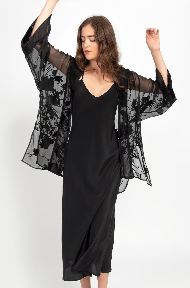Picture of Evening Kimono Black