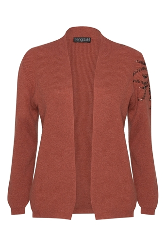 Picture of Embellished Cashmere Cardigan Saffron