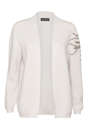 Picture of Embellished Cashmere Cardigan Silver