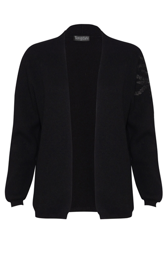 Picture of Embellished Cashmere Cardigan Black
