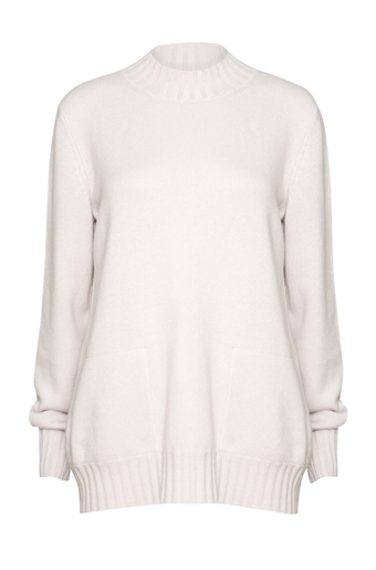 Picture of Crew Neck Cashmere Jumper Platinum