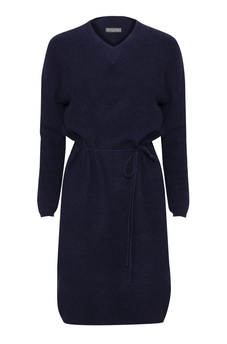 Picture of Aspen Pure Cashmere Dress Navy
