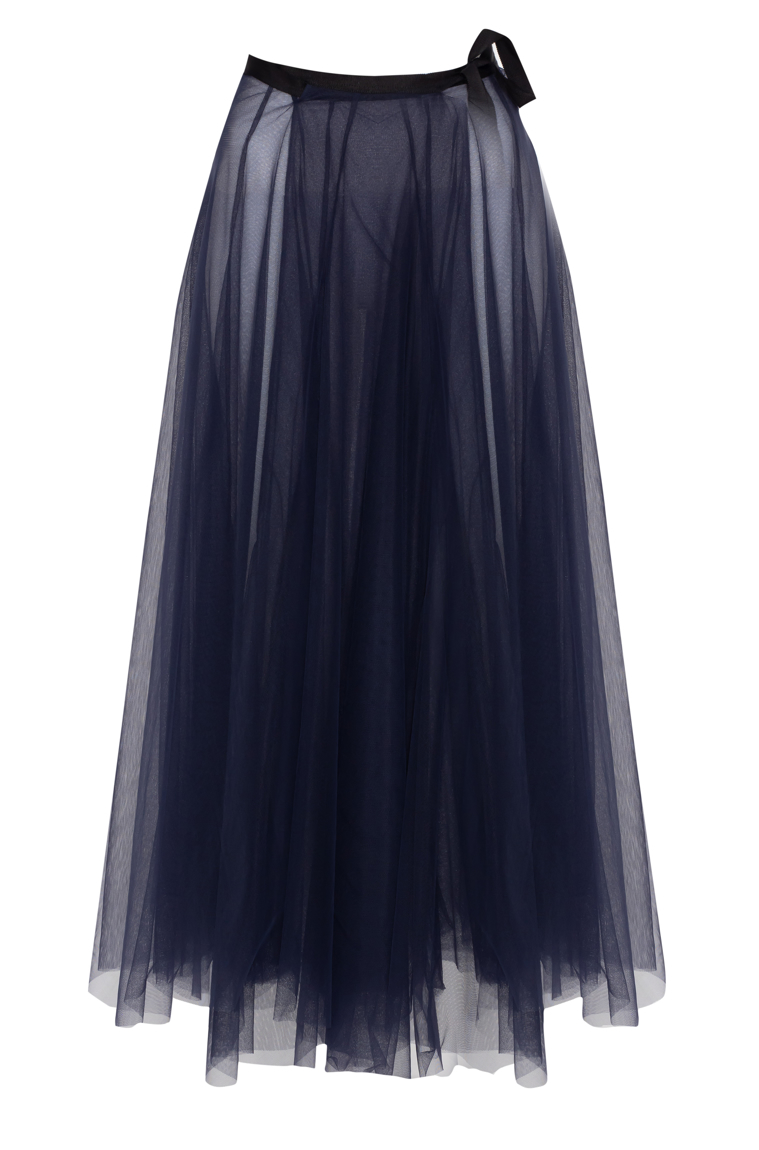 Picture of Ava Wrap Tulle Skirt Violet