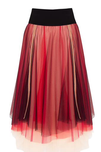 Picture of Margot Tulle Ballet Skirt Red