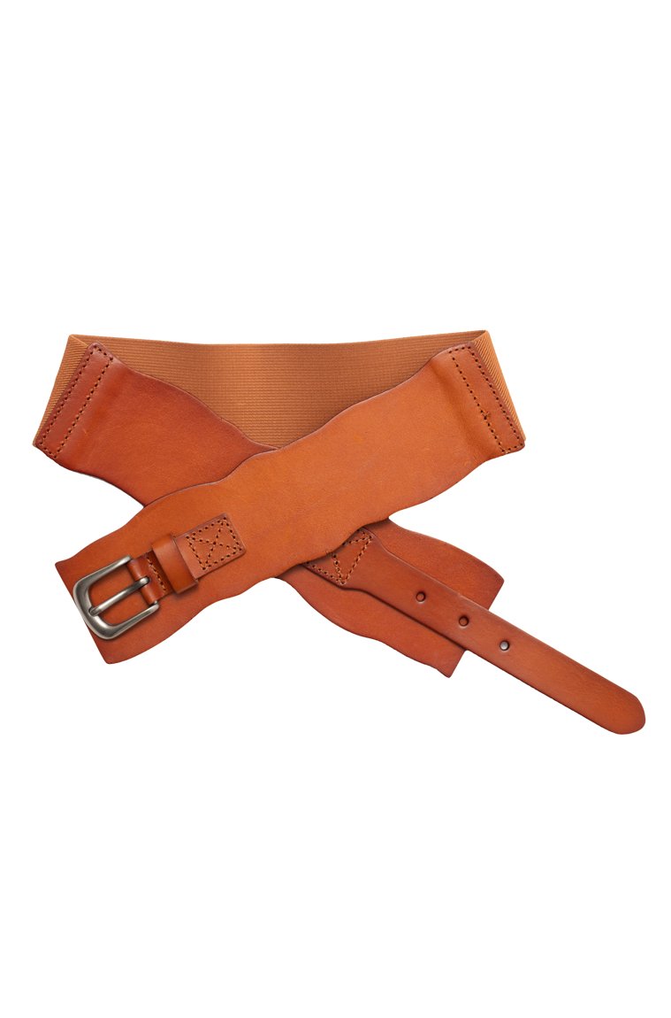 Picture of Wide Leather Belt Tan