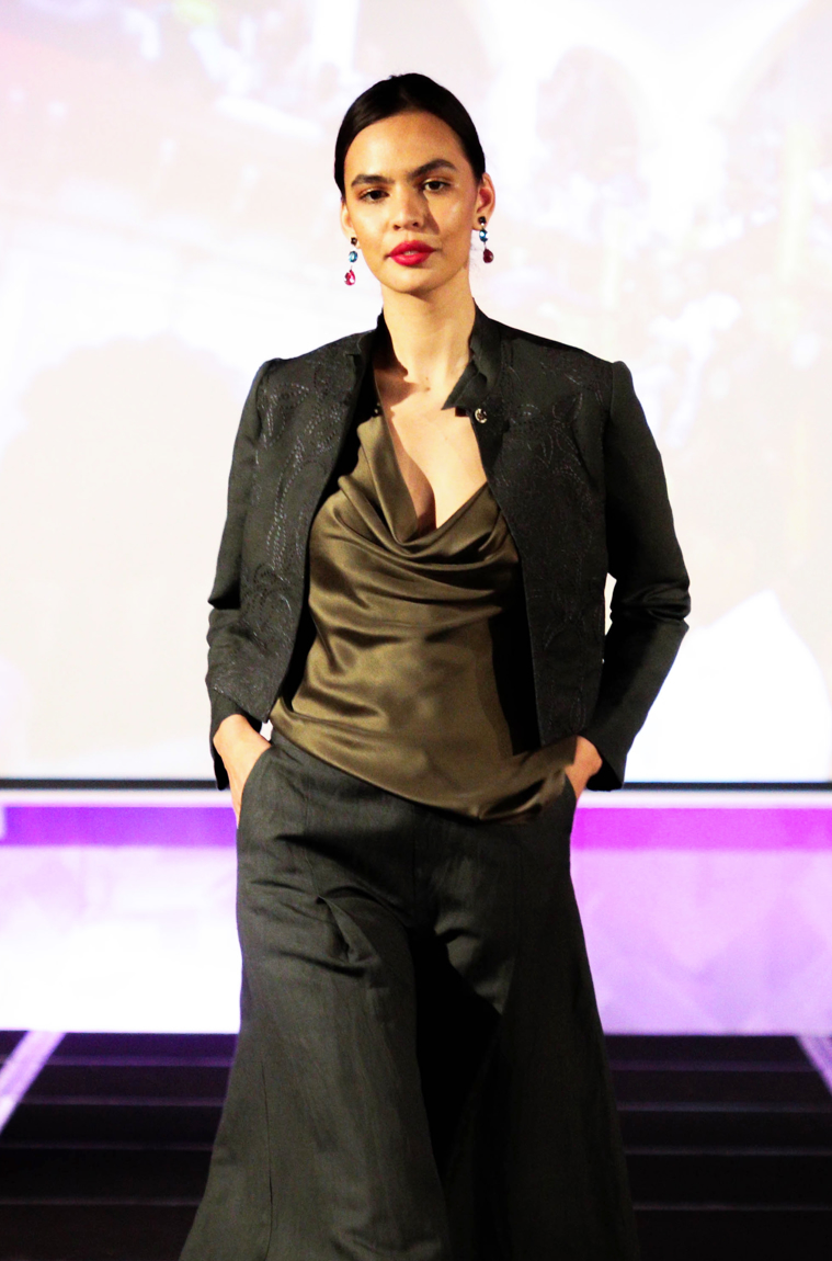 Picture of Marie Curie Crop Jacket Anthracite