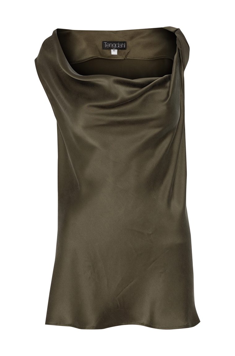 Picture of Candice Twist Blouse Olive