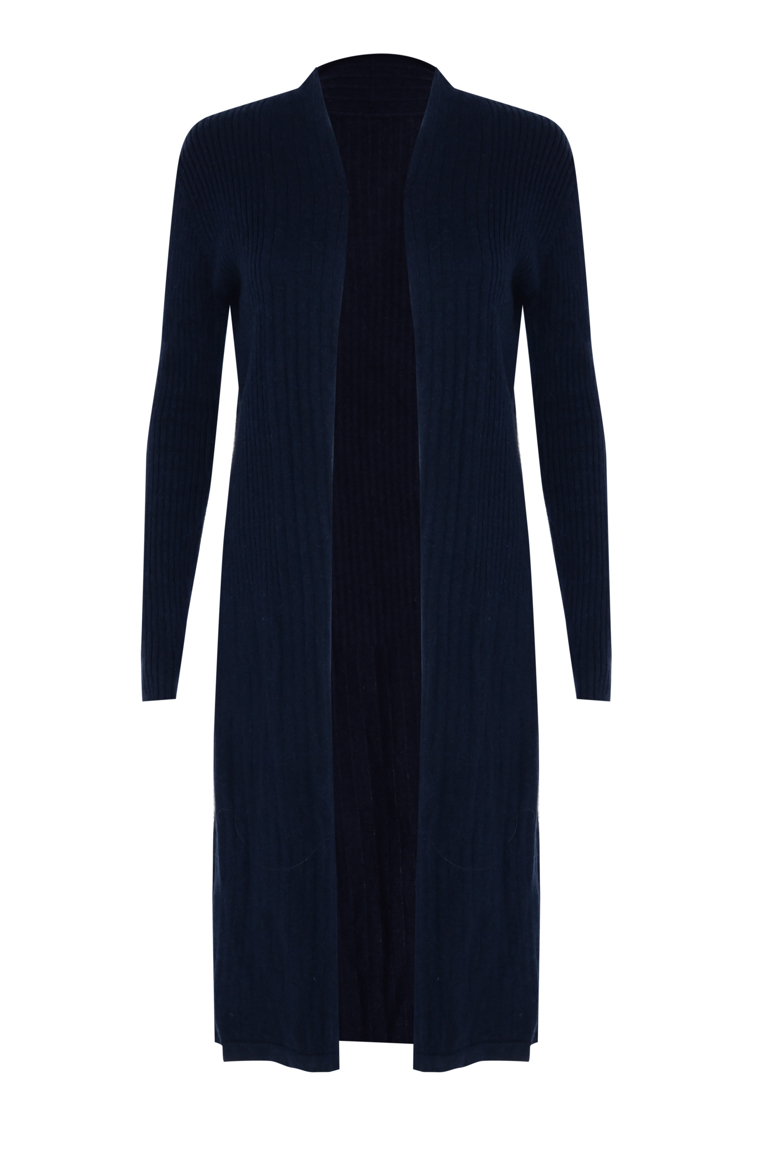 Picture of Cashmere  Long Cardigan Navy