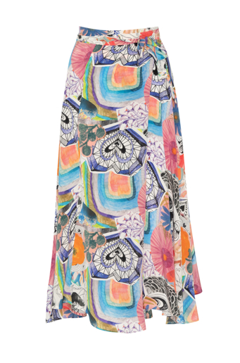Picture of Sophia Wrap Skirt  Heart Garden