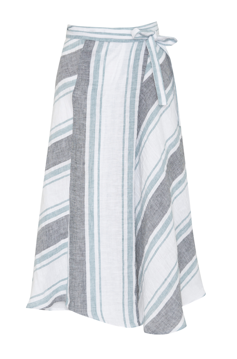 Picture of Sophia Wrap Skirt Stripe