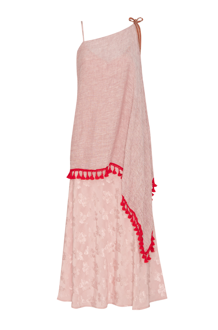 Picture of Jasmina Damask Maxi Slip Dress  Blush Pink