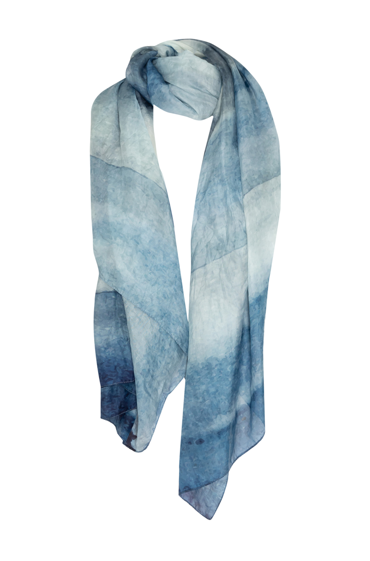Picture of Scarf Sky Blue Silk