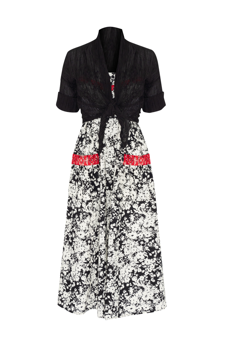 Picture of Freya Maxi Dress Black and White Print