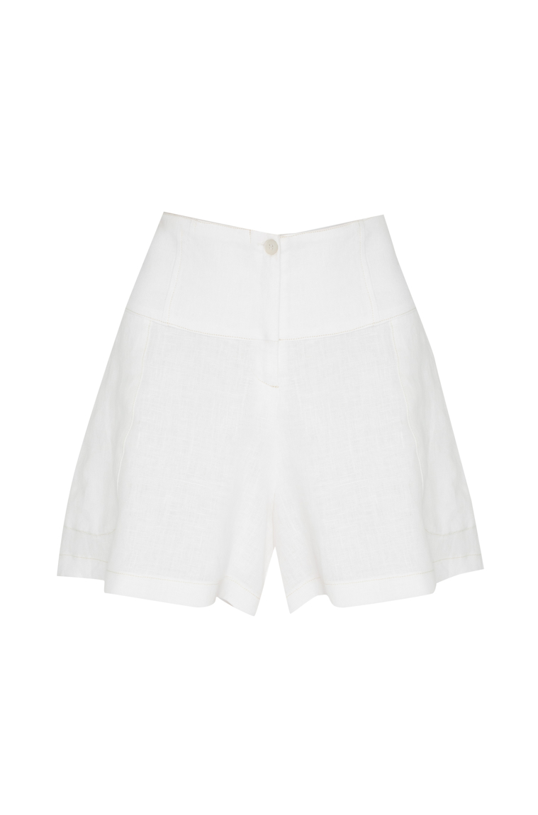 Picture of Ava Shorts Ivory Linen