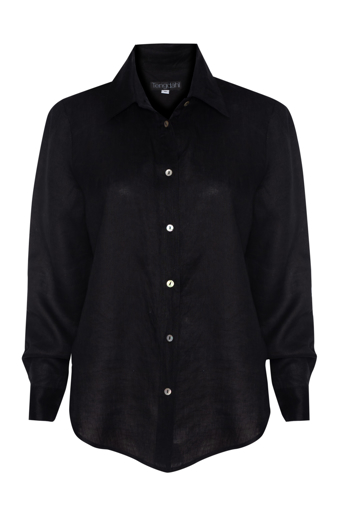 Picture of Adele Linen Shirt Black
