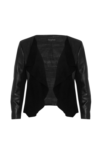 Picture of Maya Leather Jacket Black