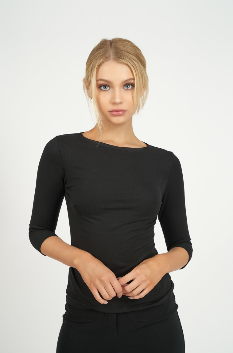 Picture of Classic 3/4 Sleeve T-Shirt Black