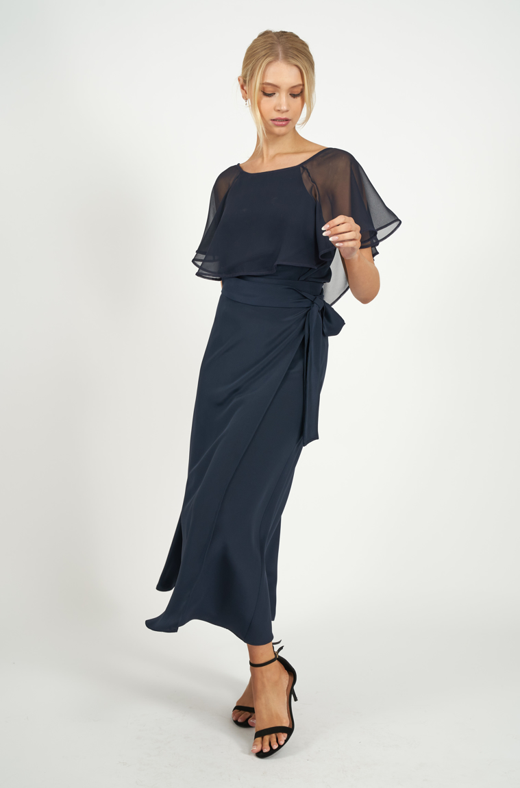 Picture of Margueritte Maxi Skirt Navy