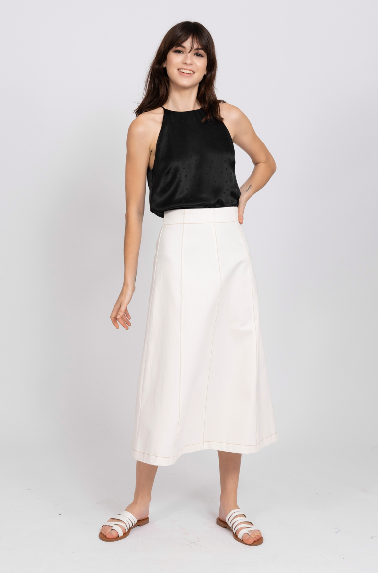 Picture of Kate Denim Skirt White