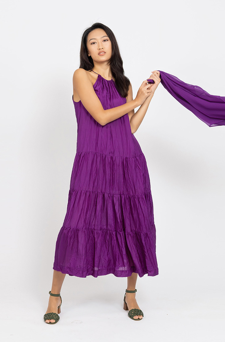 Picture of Vivien Tiered Dress Magenta