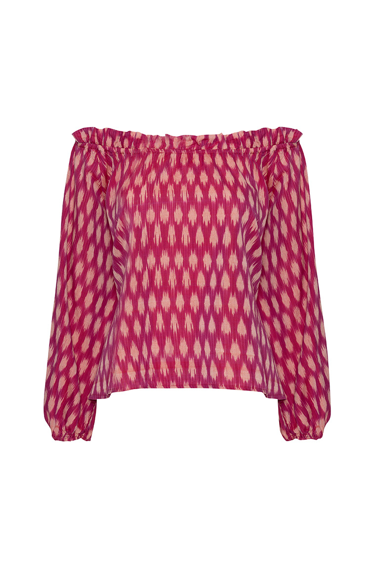 Picture of Monica Top Fuschia Pink