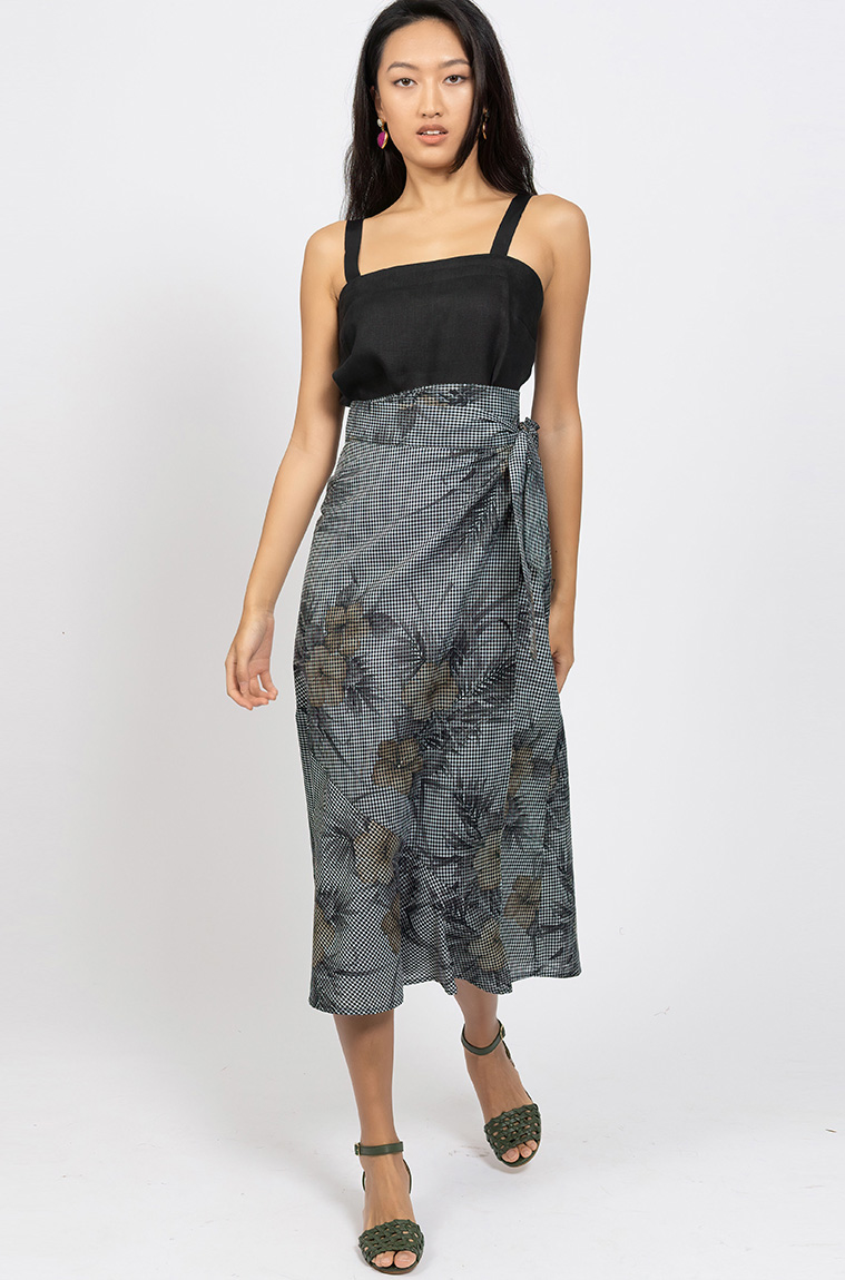 Picture of Artina Maxi Skirt Check