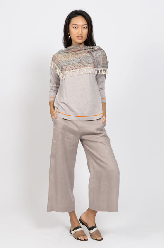 Picture of Boat Neck Sweater Beige