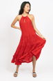 Picture of Vivien Tiered Dress Scarlet
