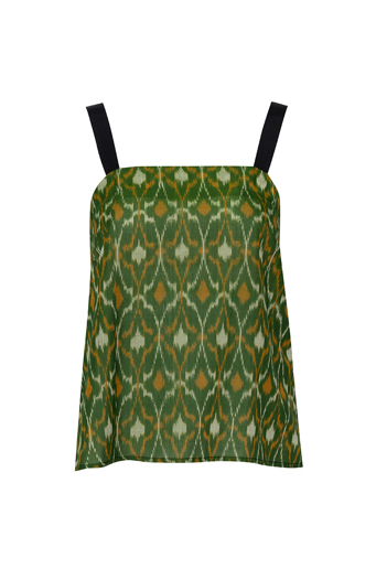 Picture of Elsa Cami Ikat Kelly Green