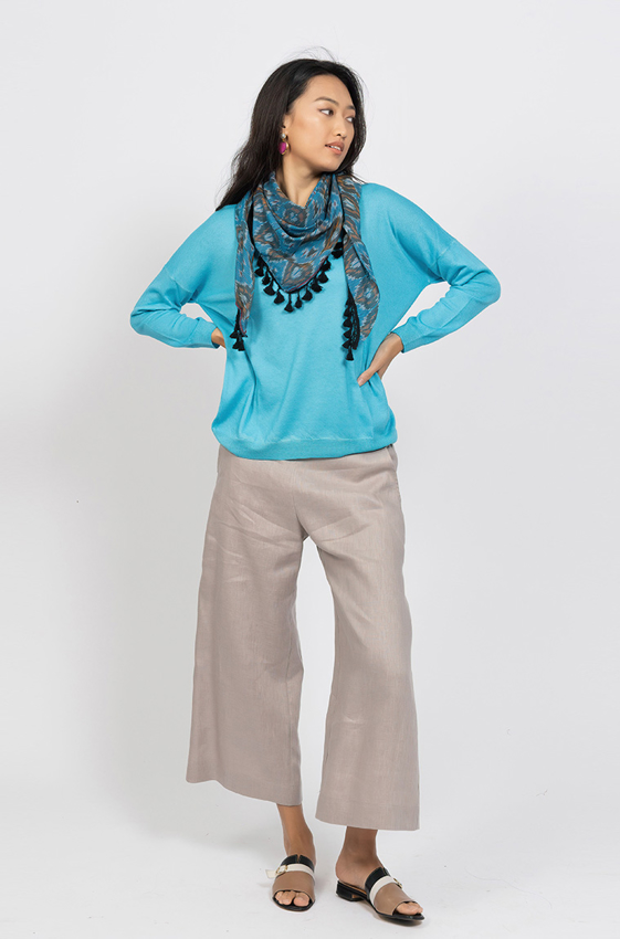Picture of Crew Neck cashmere sweater Aqua